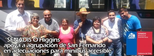 "SENADIS ""O'Higgins apoya a agrupación de San Fernando en adecuaciones para minibús accesible"""
