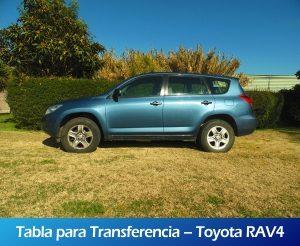 Galeria RollerMobility - Tabla para transferencia - Toyota RAV4