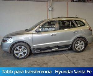 Galeria RollerMobility - Tabla para transferencia - Hyundai Santa Fe