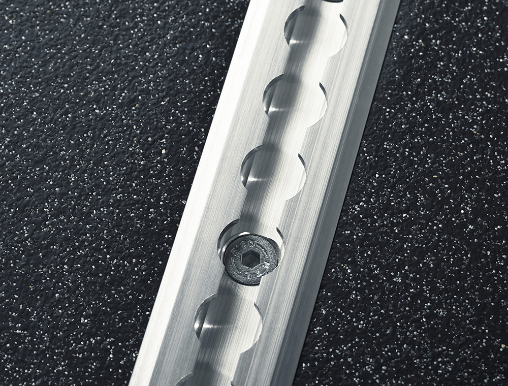 Tried and tested over many years and first choice for many specifiers and vehicle converters, thank to its ease of installation and strength. Low Profile Rail is installed by cutting a slit in the floor, in which the rails are placed. The rails protrude 3.5mm from the finished floor. Can be cut to length under special order and is supplied drilled.